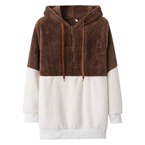 Darringls Felpa con Cappuccio Donna Collo Alto Sweatshirt Maniche Lunghe Felpa Autunno Inverno Felpe Tumblr Ragazza Cool Pullover Felpa per Donna Oversize Sweatshirt