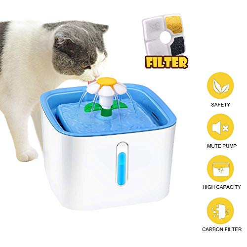 JFUNE Fuente de Agua para Gatos