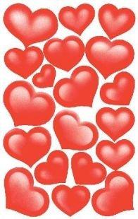Preisvergleich Produktbild Avery Zweckform ZDesign 53205, Deko Sticker Herzen 2 Bogen 38 S
