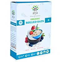 Arya Farm Certified Organic Rolled Oats 500g. (Gluten Free/No Preservatives/No Chemicals)
