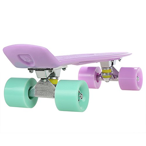 WeSkate Skateboard Kinder Mini Cruiser Skateboard 57cm Retro Penny-Stil Board für Jungen Mädchen Kinder ab 5 Jahre (Cruiser Penny Skateboard)