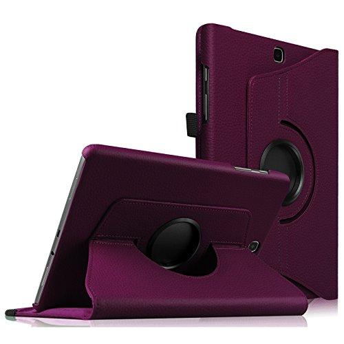 Fintie Samsung Galaxy Tab S2 9.7 Hülle - 360° drehbarer Stand Kunstleder Schutzhülle Case CoverTasche mit Ständerfunktion Auto Schlaf / Wach für Samsung Galaxy Tab S2 T810N / T815N / - Case S2 Lila