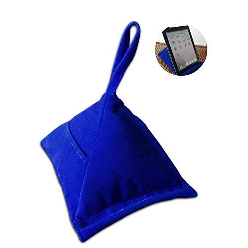 PAWACA Paawaca Pyramidenförmiges Tablett-Kissen mit 2 Taschen zum Aufbewahren von Stift oder Handy, Plüsch-Mikrofaser-Mini-Kissen Computer-Halter Sofa Leseständer auf Schoß, Bett, Sofa, Couch (Plüsch-handy-halter)