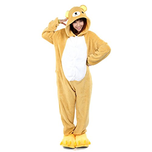 yimidearr-unisex-adult-pajamas-cosplay-costume-animal-onesie-sleepwear-nightwear-m-easily-bear