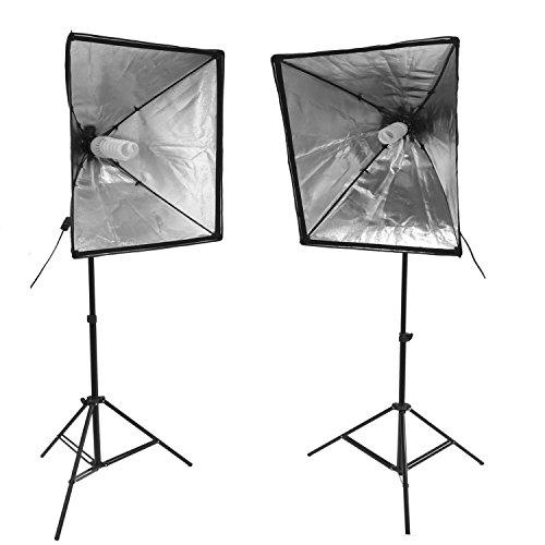 Hakutatz SB-50B-2 Studioleuchten Softbox-Set (2x) inkl. Stativ und Leuchtmittel