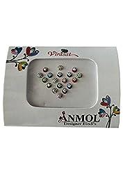 Anmol virasat Multicolored Fabric Small Stone Bindi