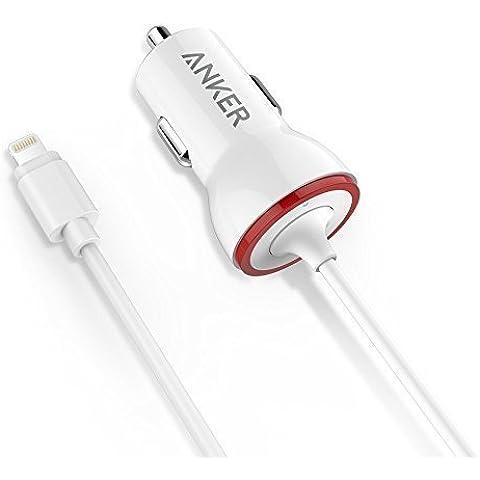Anker PowerDrive Lightning (Cargador de Coche 12W con clavija Lightning) Cargador iPhone de Coche con Certificado Apple MFi para iPhone 6 6s Plus, iPad Air 2 y más