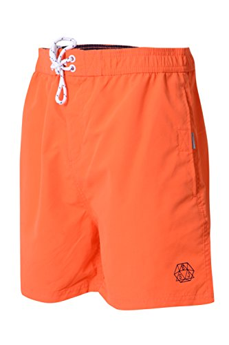 Smith and Jones - Short de bain - Relaxed - Homme rouge Red Small Tiger Lily - Orange