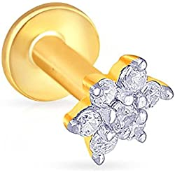 Malabar Gold and Diamonds 22KT Yellow Gold Nose Pin for Women