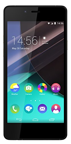 "Wiko Highway Pure - Smartphone libre de 4.8"" (2 GB de RAM, cámara de 8 MP, 16 GB de memoria interna), color negro y oro"