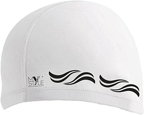 My custom style 3 cuffie bianche piscina mare in spandex - licra