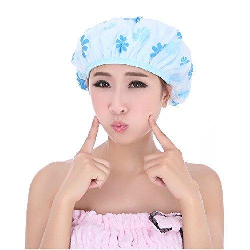 PETRICE Set Of 3 Reusable Waterproof Elastic Eva Free-Size Bathroom Shower Caps - For Homes, Spas, Salons, Hair Treatment, Beauty Parlors Multi Color