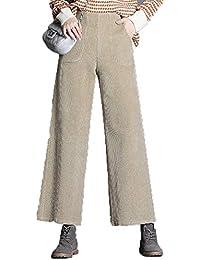 Amazon.it: pantaloni donna vita alta Beige Pantaloni
