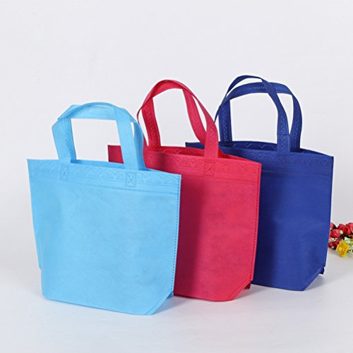 NUOLUX-24pcs-Non-woven-Reusable-Bags-Carrying-Grocery-Tote-Bag-for-Shopping-Party-Favor-Gift-Bag-Assorted-Colors