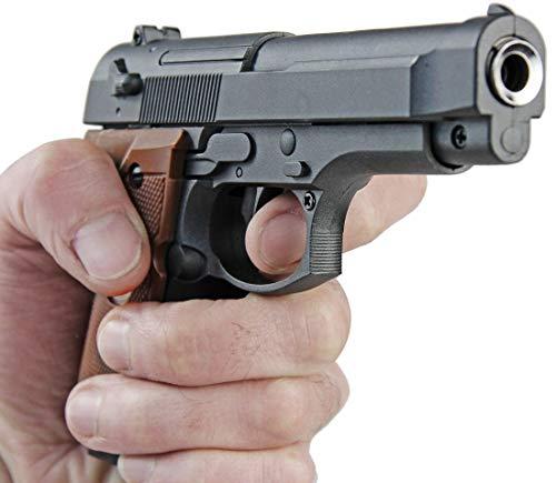 Nerd Clear Metall Pistole 1 zu 1 Nachbau für Film und Karneval G22-12251