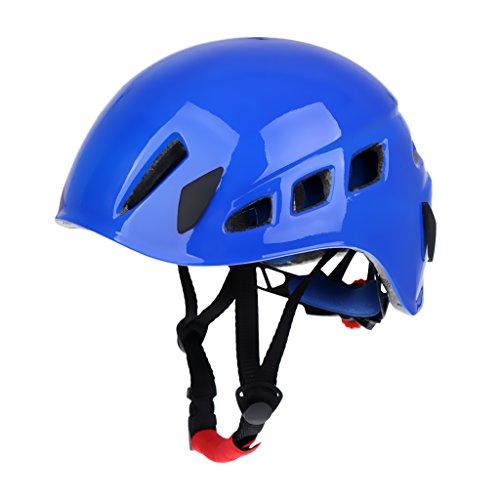 Gazechimp Klettersteighelm Kletterhelm, Universal für 58-62 cm Kopfumfang Klettern Abseilen Bergsteigen Sicherheitshelm - Blau