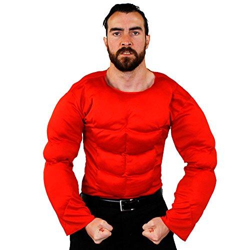 Imagen de adulto músculos pectorales  perfecto disfraz halloween accesorio o para superhéroe disfraz  estándar y tamaño extra grande  disponible en 6 colores beis / piel, marrón, negro, verde, rojo, azul alternativa