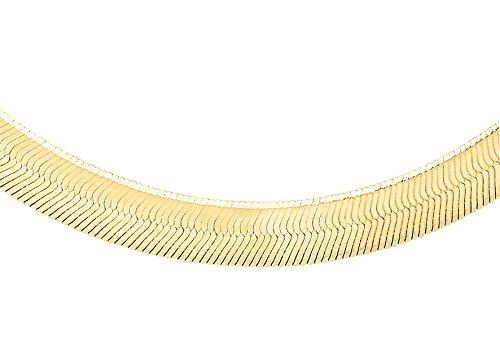 Carissima Gold Damen-Fischgrätkette 9ct Plain Herringbone Chain 375 Gelbgold 41 cm - 1.11.0183