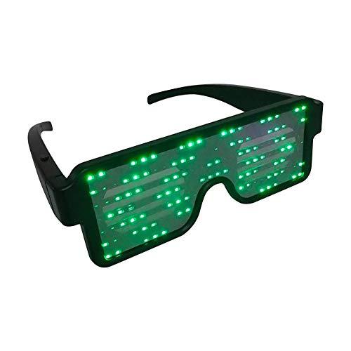 Balai LED-Brillen, wiederaufladbare Spielzeug-Sonnenbrillen können 6 Stunden mit 8 Animationsmodi für Halloween, Weihnachten und Verschiedene Partys Arbeiten 5 Farben ()