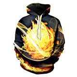 Mode Cool Print Flamme Verbrennung 3D Hip Hop Streetwear Sweats Trainingsanzüge Flame Combustion XL
