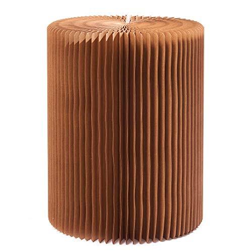 PaPeer Papierstuhl mit Kissen ausziehbar Style A 38 cm hoch 30 cm Durchmesser praktisch Papiermöbel Pappe Recycling Papier
