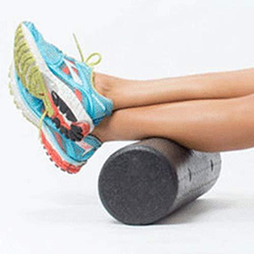 WEIWEITOE-ES Columna de Yoga extrafuerte EPP de Alta Densidad Rodillo de Espuma Músculo Dolor de Espalda Disparador Masaje de Yoga Lanzamiento de Myofascial, Negro, 45x15cm