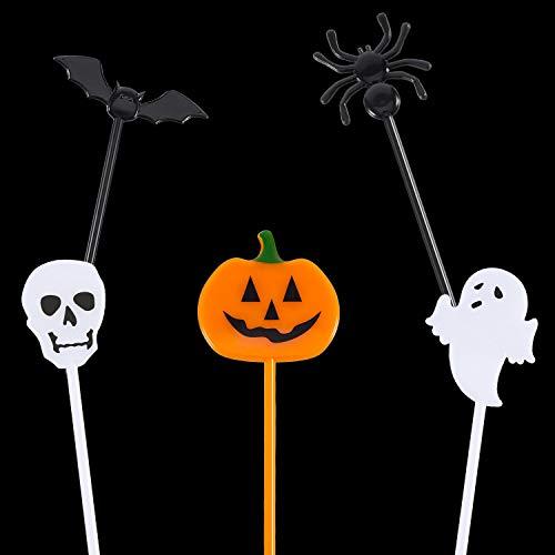 Plastica Halloween Stuzzicadenti Halloween Cupcake Topper Stuzzicadenti  Fantasma Decorazione per i Bambini Festa di Compleanno Festa a Tema (50) 7ebd2b5546a7