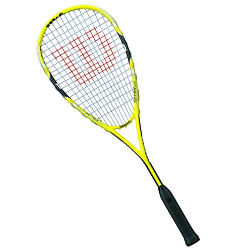 WILSON Squashschläger Ripper Team Sq Rkt 1/2 Cvr, Yellow/Black, One Size, WRT912830