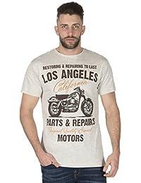 Hommes Cargo Bay Los Angeles dessin imprimé Coton T-Shirt à col rond