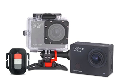 "Denver - Videocamera Actioncam Full HD, WiFi, display da 5,1 cm (2""), sensore CMOS, USB, con alloggiamento resistente all'acqua fino a 55 m"