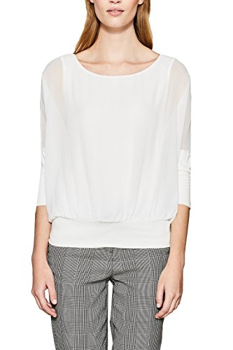 ESPRIT Damen Bluse 117EE1F034, Weiß (Off Ghostly 110), XX-Large