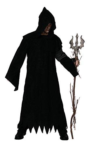 Karneval-Klamotten' Kostüm Warlock Herr Halloween gruseliges Horror Zauberer Magier Hexenmeister Herrenkostüm Einheitsgrösse (Warlock Kostüm Für Erwachsene)