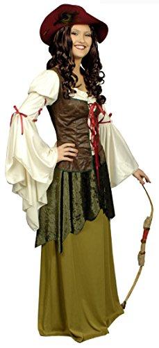 Für Marian Maid Erwachsene Kostüm Damen - K31250603-40-42 Damen Maid Marian Robin Hood Kostüm Gr.40-42