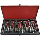 D2B 131 piezas Set para reparación de roscas Helicoil tipo M5 M6 M8 M10 M12 ingeniería mecánica caja de Metal