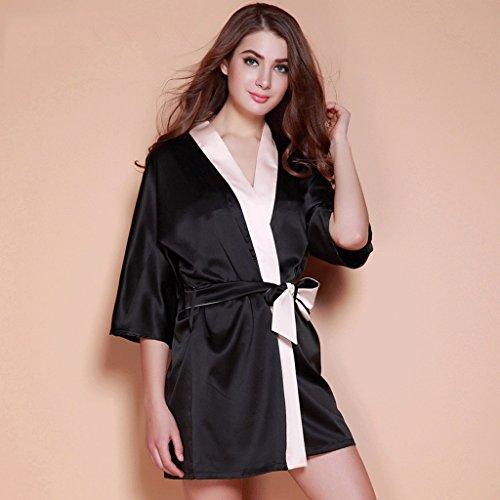 ZLR Herbst Lady Sleep Robe beiläufige lose Pyjamas Sexy Home Kleidung Bademantel ( größe : M ) Assassin Creed Haut