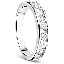Orovi Femme 9carats (375/1000) or blanc 375/1000 (9 cts) Diamant