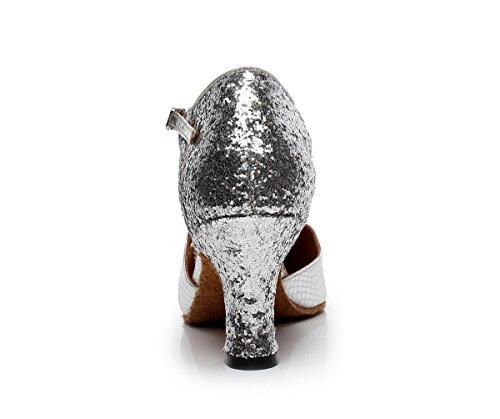 Minitoo ,  Damen Tanzschuhe Silber