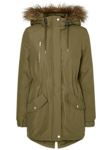 Noisy May 10164650 Parka Donna Verde Xs