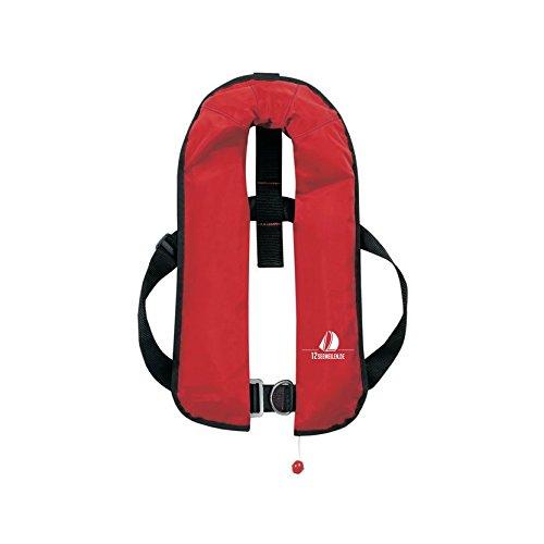 12Seemeilen Automatik-Rettungsweste 165N mit Lifebelt, rot