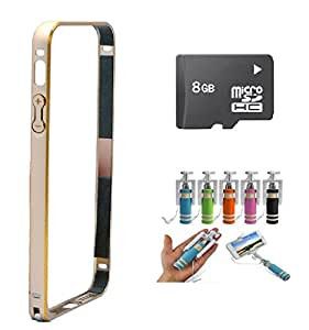CUBE Golden Bumper for Samsung Galaxy J5 With Selfie Stick & 8GB Memory Card