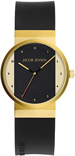 Jacob Jensen Womens Analogue Classic Quartz Watch with Rubber Strap JJ744