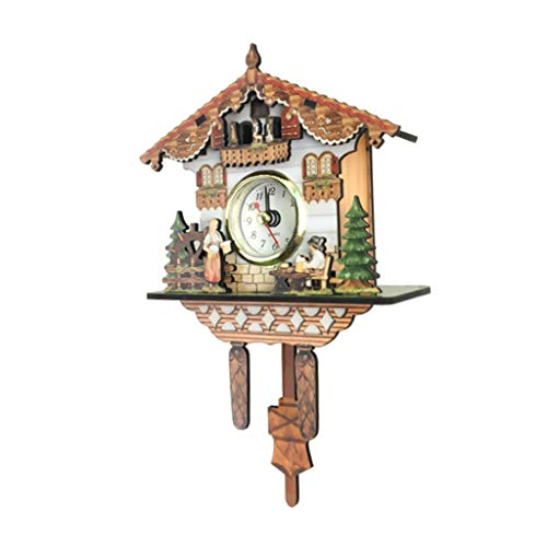 b2cda8eb4 LOVIVER Reloj De Pared Decorativo De Reloj De Cuco De Madera Con.