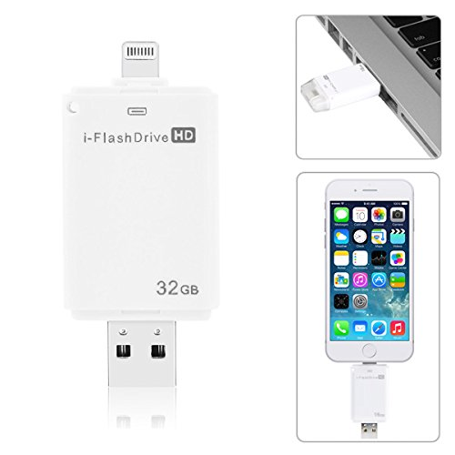 Price comparison product image 32 GB i-Flash Drive HD Memory Storage Device for iPhone 6/5/5S iPad iPod IOS