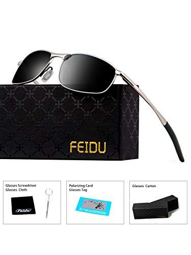 FEIDU Sport Polarized Sunglasses for Men Stylish HD Lens Metal Frame Men s  Sunglasses FD 9005 ( d0b5980eb9bf