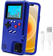 Game Console Case for iPhone,LucBuy Retro Protective Cover Self-Powered Case with 36 Small Game,Full Color Dis