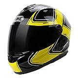 Qianliuk 966 Anti-Fog Motorrad Helm Männer Frauen Motorbike Motorcross Helme Full Face Black Lens Helme Sub Black 57-64cm