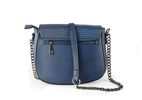 FoxLady ,  Elegant strukturierte Tasche für Frauen Schultertasche Blau
