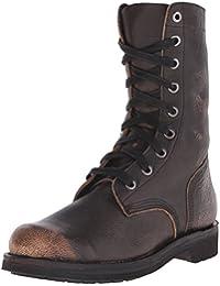 Diesel D komtop d-komtop marron chaussures bottes en cuir bottes bottes