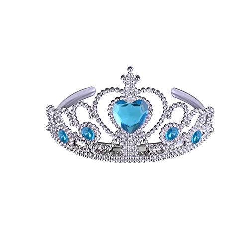 Hilai Articoli da Regalo Principessa Elsa Vestire Partito Accessori Corona Bacchetta Magica Set per Le Ragazze 2PCS / Pack (Blu)