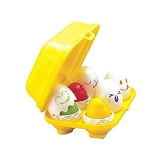 TOMY Buntes Kleinkindspielzeug Versteck- und Quieck-Eier – Spielerisch Farben und Formen kennenlernen – Fördert Motorik und Wahrnehmung des Kindes ab 6 Monaten